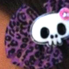 Purple Skull Bow
