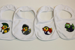 Four Pack of Rocking Rubber Ducky Baby Bibs