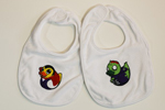 Vampire and Zombie Rubber Ducky Baby Bibs