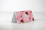 Pink CupCake Checkbook Cover