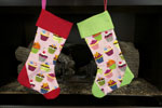 Day of the Dead(Red Trim) Christmas Stocking