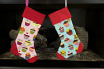 Day of the Dead(Green Trim) Christmas Stocking